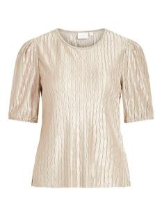 vipleasa 2/4 sleeve top 14058859 vila t-shirt simply taupe