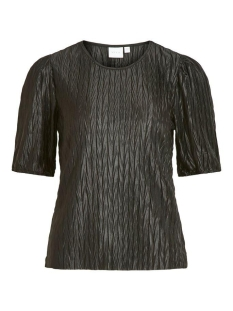 Vila T-shirt VIPLEASA 2/4 SLEEVE TOP 14058859 Black