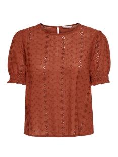 Only T-shirt ONLLARISSA S/S TOP WVN 15205595 Burnt Henna