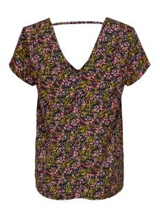 onlfay life s/s top wvn 15207099 only t-shirt black/daze flower