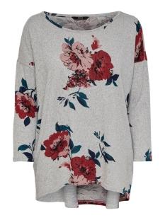 Only T-shirt ONLELCOS 4/5 AOP TOP JRS NOOS 15144286 Light Grey Mela/ALMA flower