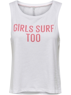 onlclara life tank s/l top box jrs 15208572 only top bright white/surf