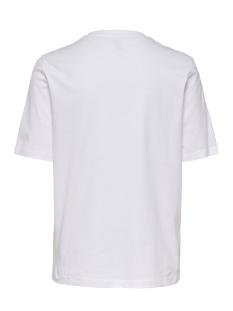onlava life boxy s/s fruit top cs j 15208637 only t-shirt bright white/banana