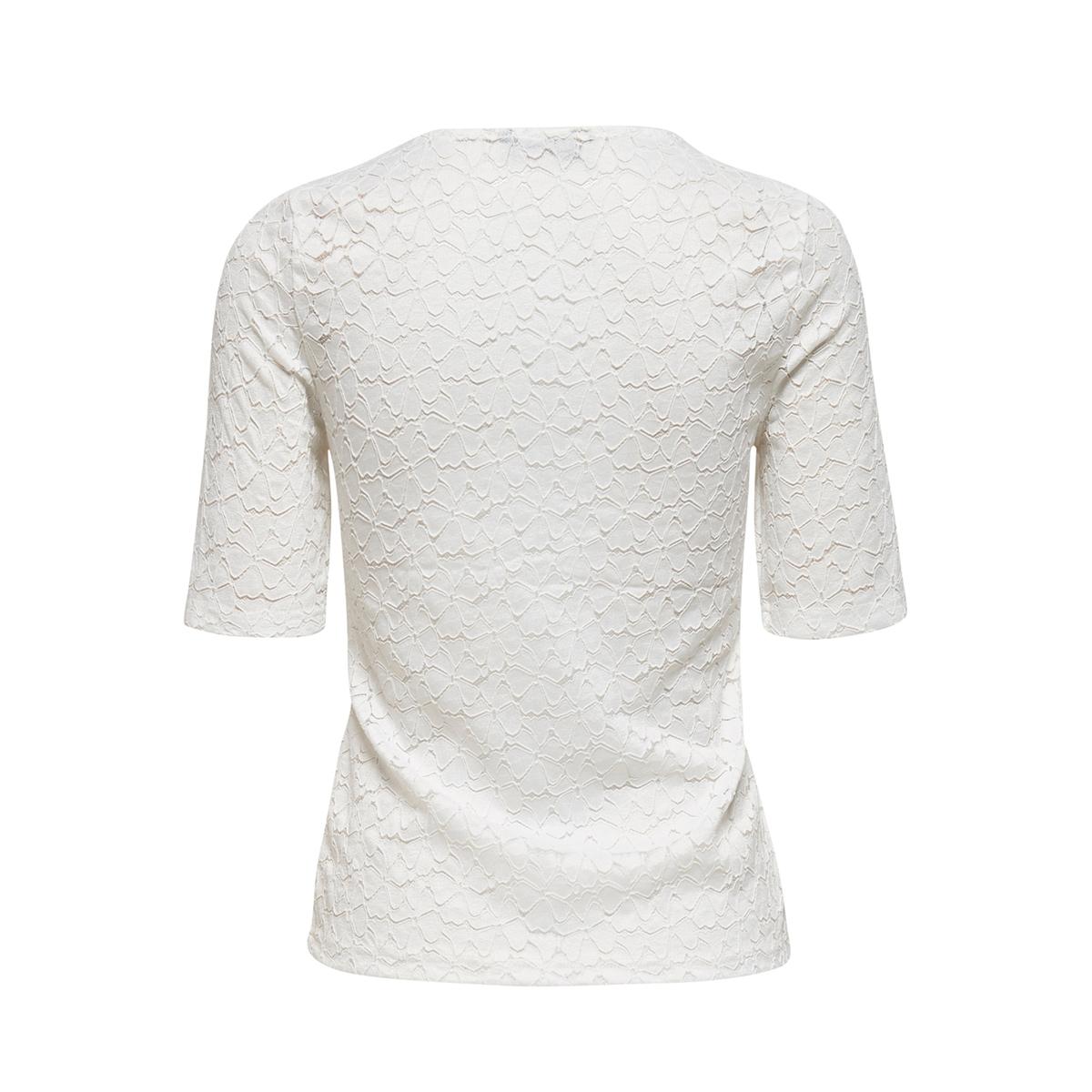 onylenni 2/4 v-neck top jrs 15204978 only t-shirt cloud dancer