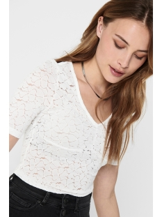 Only T-shirt ONYLENNI 2/4 V-NECK TOP JRS 15204978 Cloud Dancer