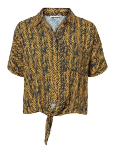 Noisy may Blouse NMBEAGLE S/S KNOT SHIRT 27012118 INCA GOLD