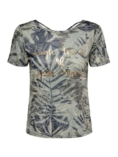 onlrilla s/s o-neck print top box j 15210386 only t-shirt covert green/graphic