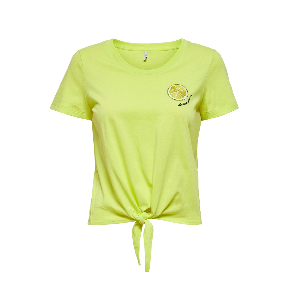 onlfruity life s/s top box jrs 15206148 only t-shirt sunny lime/lime