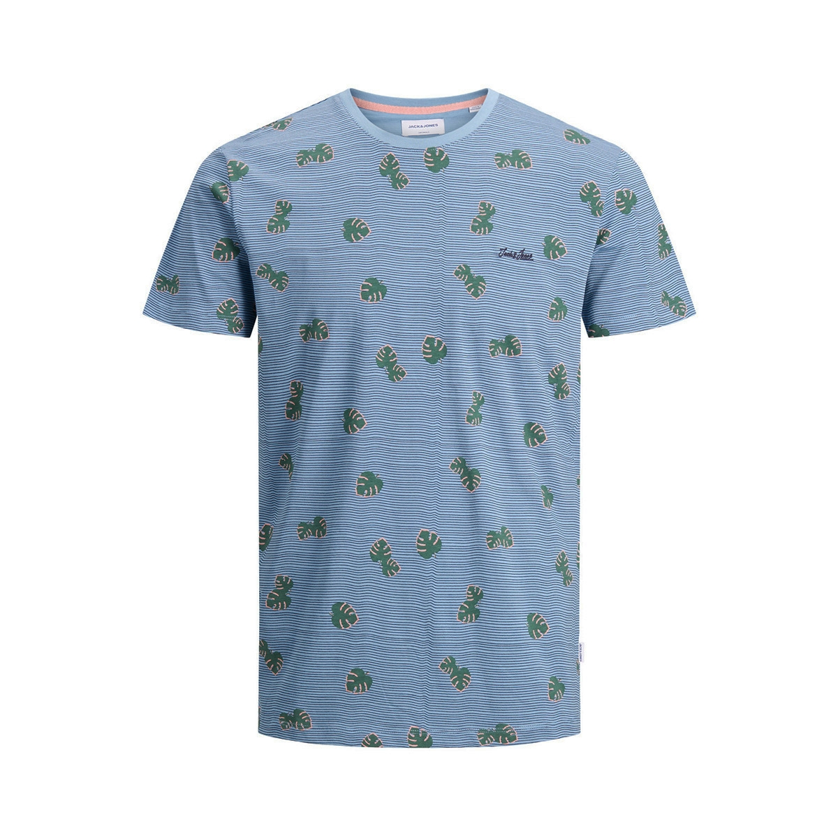 jorrazz ss tee sh 12175687 jack & jones t-shirt blue haven/reg