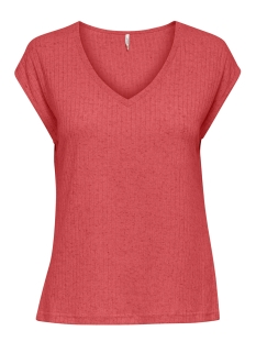 Only T-shirt ONLBEKKA S/S TOP JRS 15205187 Mineral Red