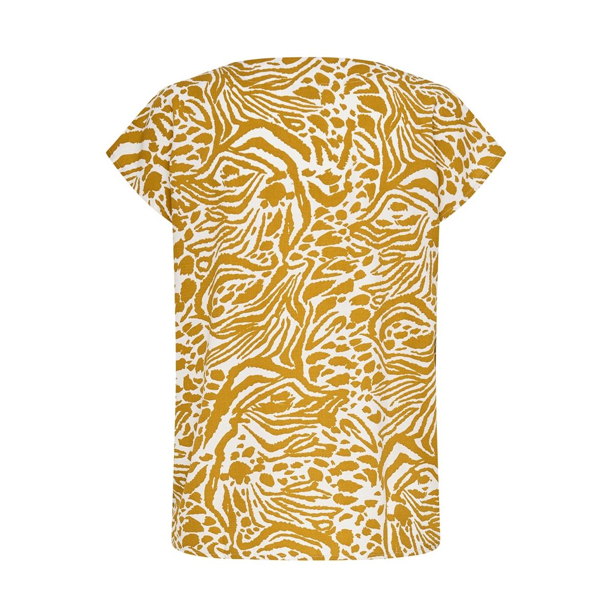 jdylion ss v-neck top wvn 15207812 jacqueline de yong t-shirt cement/animal