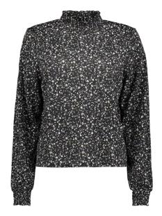 Only T-shirt ONLPELLA L/S TOP CS JRS 15214317 Black/FLOWERS