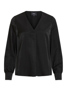 Object Blouse OBJEILEEN L/S V-NECK TOP NOOS 23032114 Black
