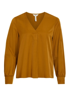 Object Blouse OBJEILEEN L/S V-NECK TOP NOOS 23032114 Tapenade