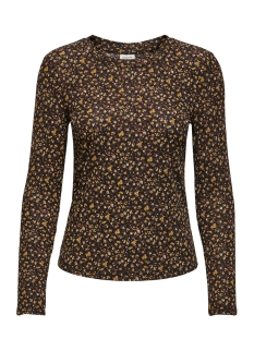 Jacqueline de Yong T-shirt JDYSVAN L/S TOP JRS 15208205 Black/REPEAT FLOWER