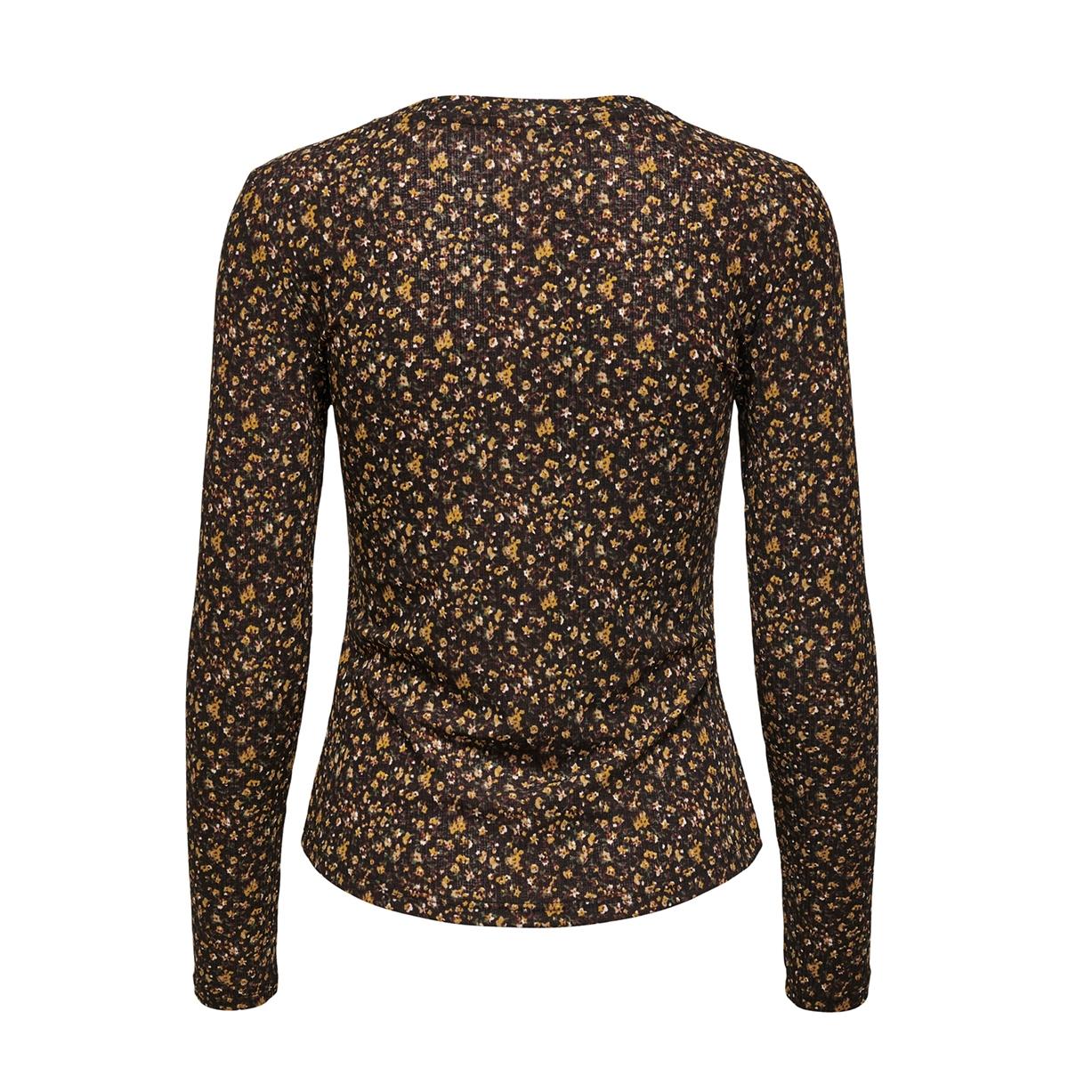 jdysvan l/s top jrs 15208205 jacqueline de yong t-shirt black/repeat flower