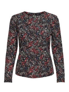 Jacqueline de Yong T-shirt JDYSVAN L/S TOP JRS 15208205 Black/RED FLOWER