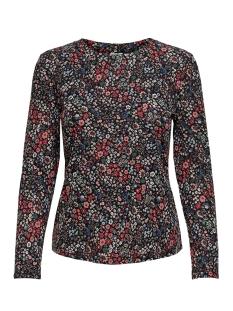 jdysvan l/s top jrs 15208205 jacqueline de yong t-shirt black/red flower