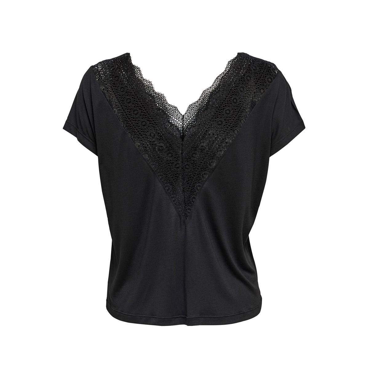 onlblake s/s lace mix top jrs 15214259 only t-shirt black