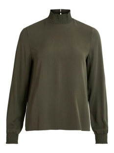 Vila T-shirt VIDANIA SMOCK L/S TOP/SU - NOOS 14056537 Forest Night