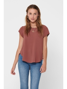 Only T-shirt ONLVIC S/S SOLID TOP NOOS WVN 15142784 Apple Butter