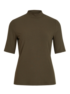 Vila T-shirt VISOLITTA RIB FUNNELNECK 2/4 TOP/SU 14061534 Forest Night