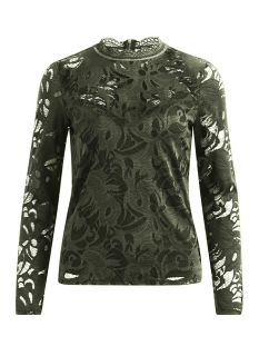 Vila T-shirt VISTASIA L/S LACE TOP-FAV 14044847 Forest Night