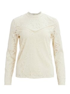 Vila T-shirt VISTASIA L/S LACE TOP-FAV 14044847 Birch