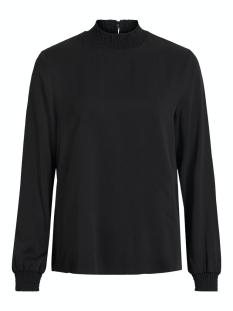Vila T-shirt VIDANIA SMOCK L/S TOP/SU - NOOS 14056537 Black
