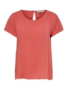 Only T-shirt ONLFIRST ONE LIFE SS SOLID TOP NOOS 15197495 Mineral Red