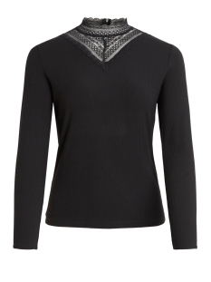 Vila T-shirt VISOLITTA RIB LACE L/S TOP/SU - NOO 14056527 Black