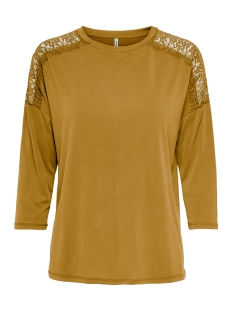 Only T-shirt ONLFREE LIFE 3/4 MIX TOP JRS 15210055 Chai Tea
