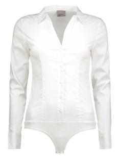vmlady l/s g-string shirt noos 10145522 vero moda blouse bright white