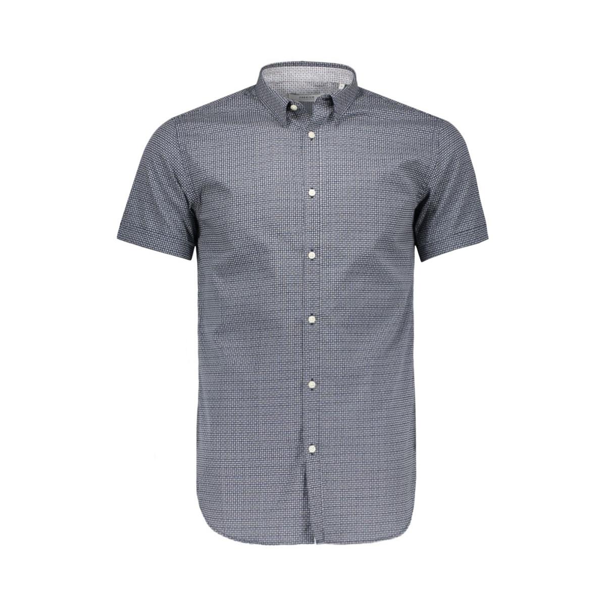 jjprdane shirt s/s plain 12112271 jack & jones overhemd navy blazer