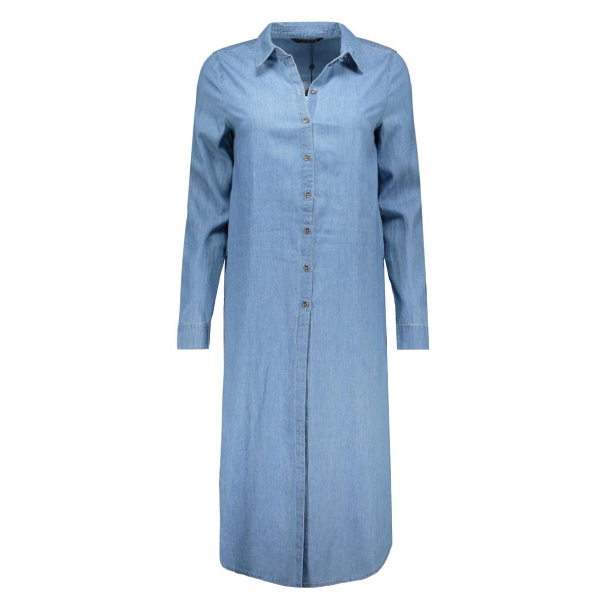 onlnova mid blue cb long shirt wvn 15121639 only blouse medium blue denim
