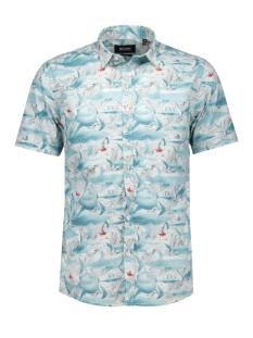 onshagen ss shirt 22003442 only & sons overhemd qhite/shark print