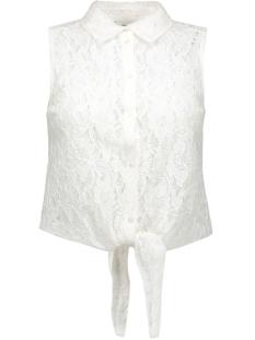 onlmarun s/l tie up shirt wvn 15124254 only blouse cloud dancer