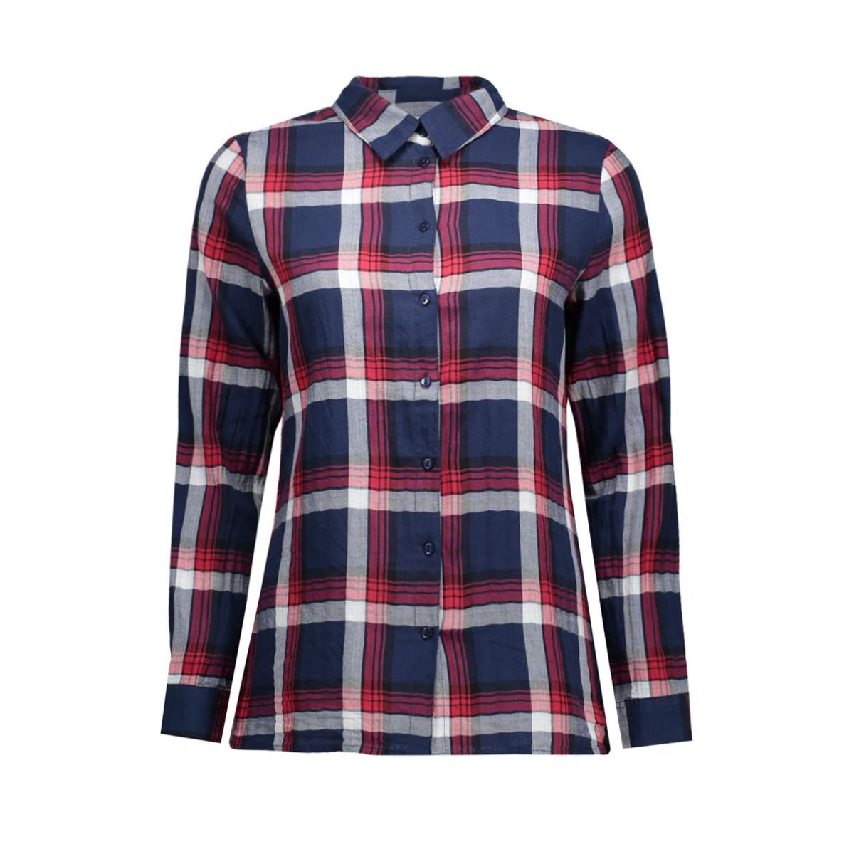 onlstockholm cici l/s shirt noos wv 15109947 only blouse cloud dancer/new red