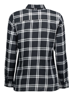onlstockholm cici l/s shirt noos wv 15109947 only blouse black/black and white
