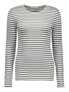Pieces T-shirt PCRAYA ROUND NECK BLOUSE NOOS 17073091 Dark Grey Melange