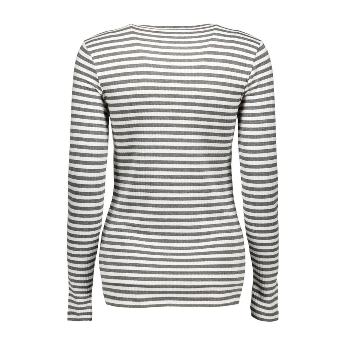 pcraya round neck blouse noos 17073091 pieces t-shirt dark grey melange