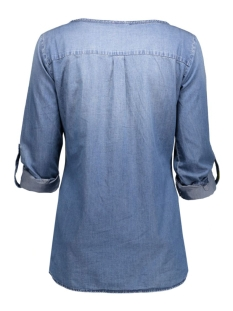 jdywyre ls placket denim shirt dnm 15126959 jacqueline de yong blouse medium blue denim