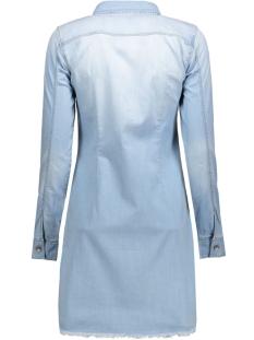 onllonni shirt dress raw edgr  l. b 15120545 only jurk light blue denim