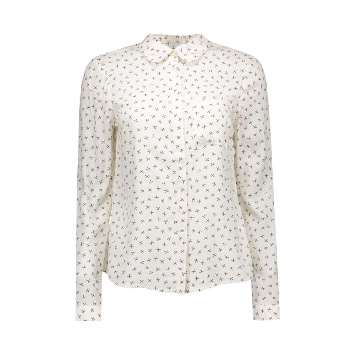 vmscissor l/s shirt dnm 10161685 vero moda blouse snow white/scissor