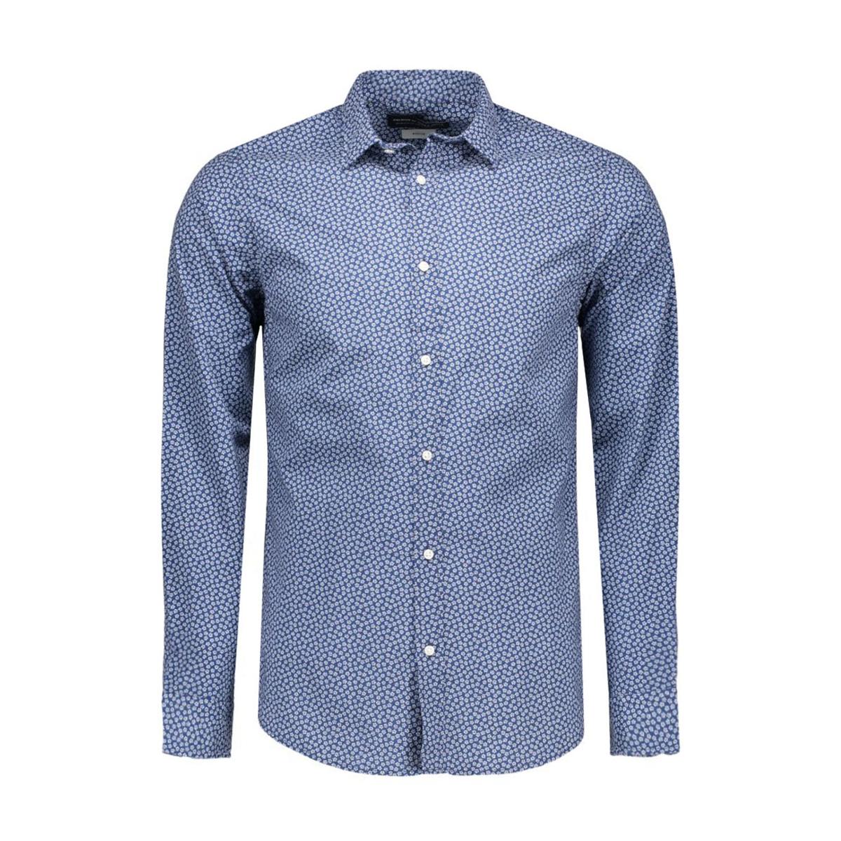 jprnewcastle shirt l/s plain 12108895 jack & jones overhemd navy blazer