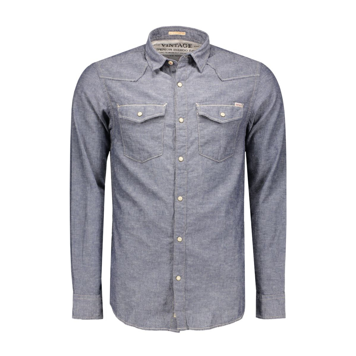 jjvarvin shirt l/s western 12108365 jack & jones overhemd dark slate