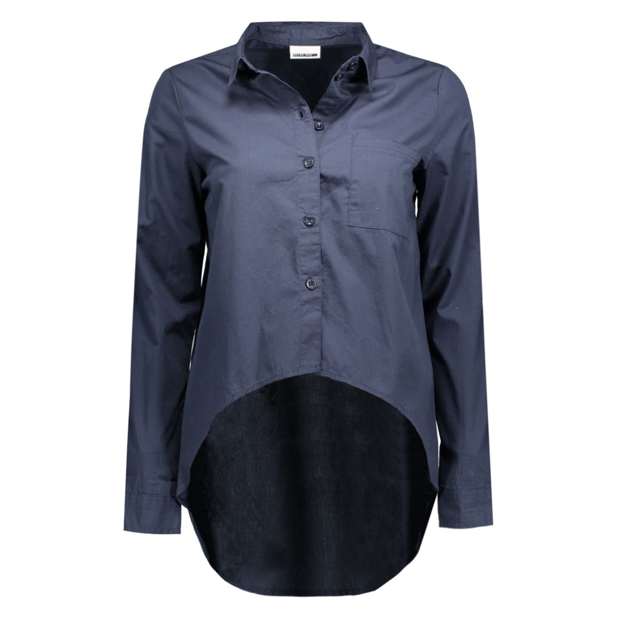 nmcana  l/s high low shirt 5 10159889 noisy may blouse total eclipse