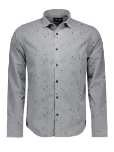 Only & Sons Overhemd onsSIVEL AOP L/S SHIRT 22004263 Dark Grey Melange
