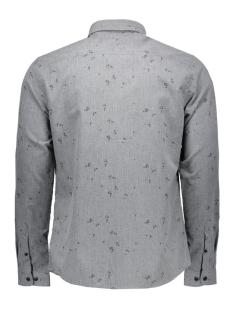 onssivel aop l/s shirt 22004263 only & sons overhemd dark grey melange