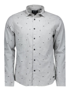 Only & Sons Overhemden onsSIVEL AOP L/S SHIRT 22004263 Light Grey Melange